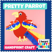 Load image into Gallery viewer, Handprint Parrot Craft
