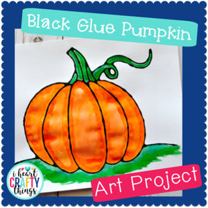 Black Glue Pumpkin Art Project