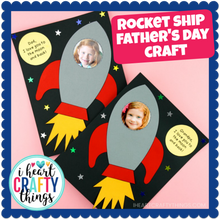 Load image into Gallery viewer, Rocket Ship Father's Day Craft