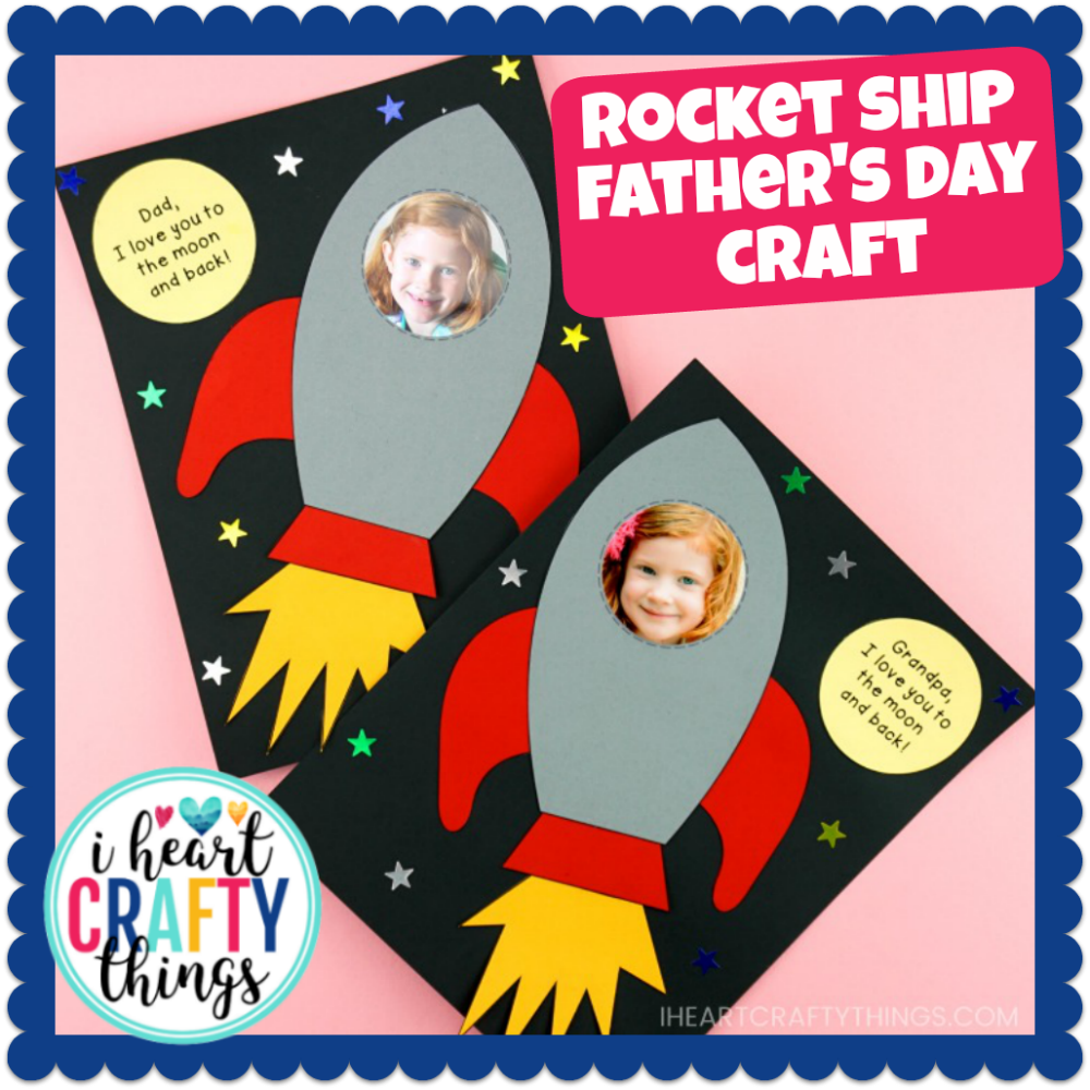 Rocket Ship Father's Day Craft