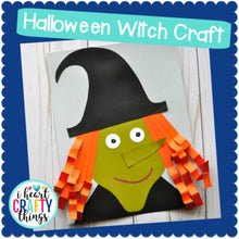 Load image into Gallery viewer, Cut and Paste Witch Halloween Craft