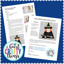 Load image into Gallery viewer, Paper Witch Halloween Craft -Room on the Broom Craft