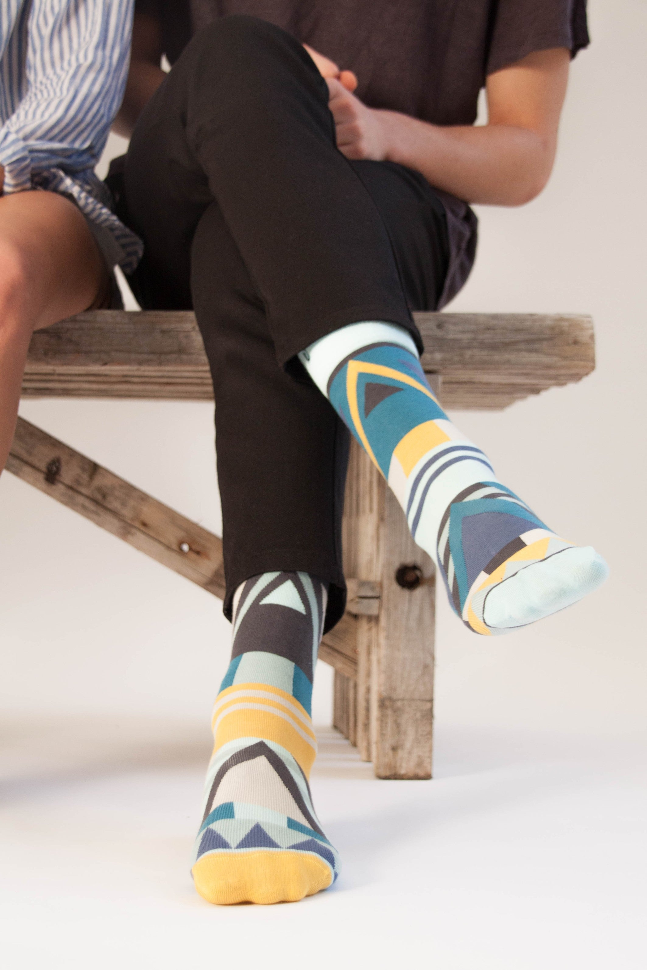 a pack of 7x1 organic cotton crew dress socks designed to mix & match, made by SOLOSOCKS™ of Denmark. Sustainable colorful happy Danish design socks for men, women & kids | High quality but cheap and durable fashion dress socks | Worldwide delivery | Free shipping above €40 | Reduce textile waste by 41%