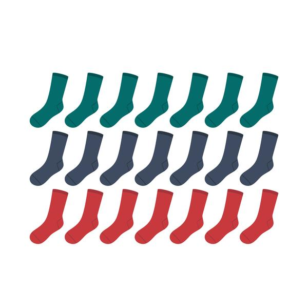 Mystery Box is a discount pack of different but matching happy, colorful organic cotton crew or dress socks made by SOLOSOCKS™ of Denmark. Sustainable Danish design socks for men & women | High quality but cheap and durable fashion dress socks | Worldwide delivery | Free shipping above €40 | Reduce textile waste by 41%