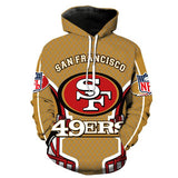 NFL Men's Fleece Hoodie Pullover-San Francisco 49ers