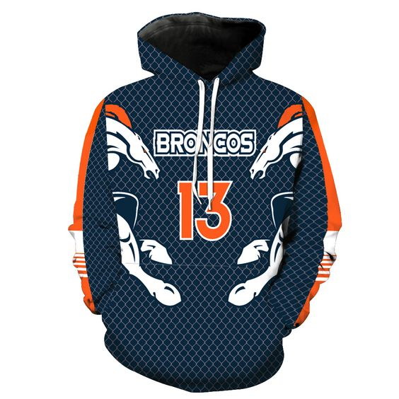 NFL Men's Fleece Hoodie Pullover-Denver Broncos