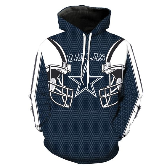 NFL Men's Fleece Hoodie Pullover-Dallas Cowboys