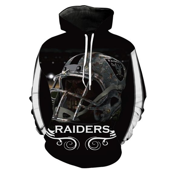 NFL Men's Fleece Hoodie Pullover-Oakland Raiders