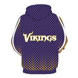 NFL Men's Fleece Hoodie Pullover-Minnesota Vikings