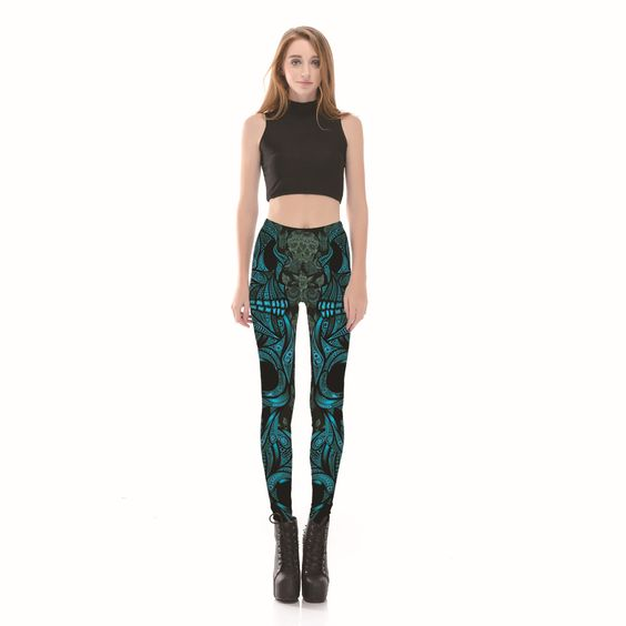 McMola Women's Printed High Waist Ultra Soft Lightweight Capris -  High Rise Yoga Pants