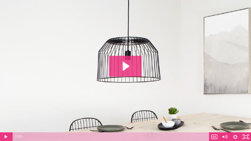 DIY Metal Basket Pendant Light