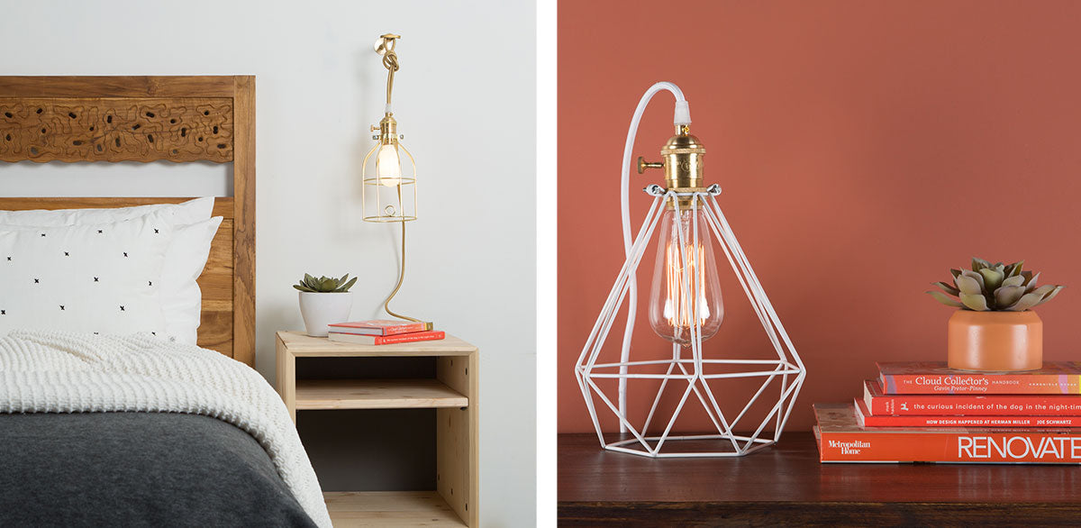 Industrial and geometric bulb cages
