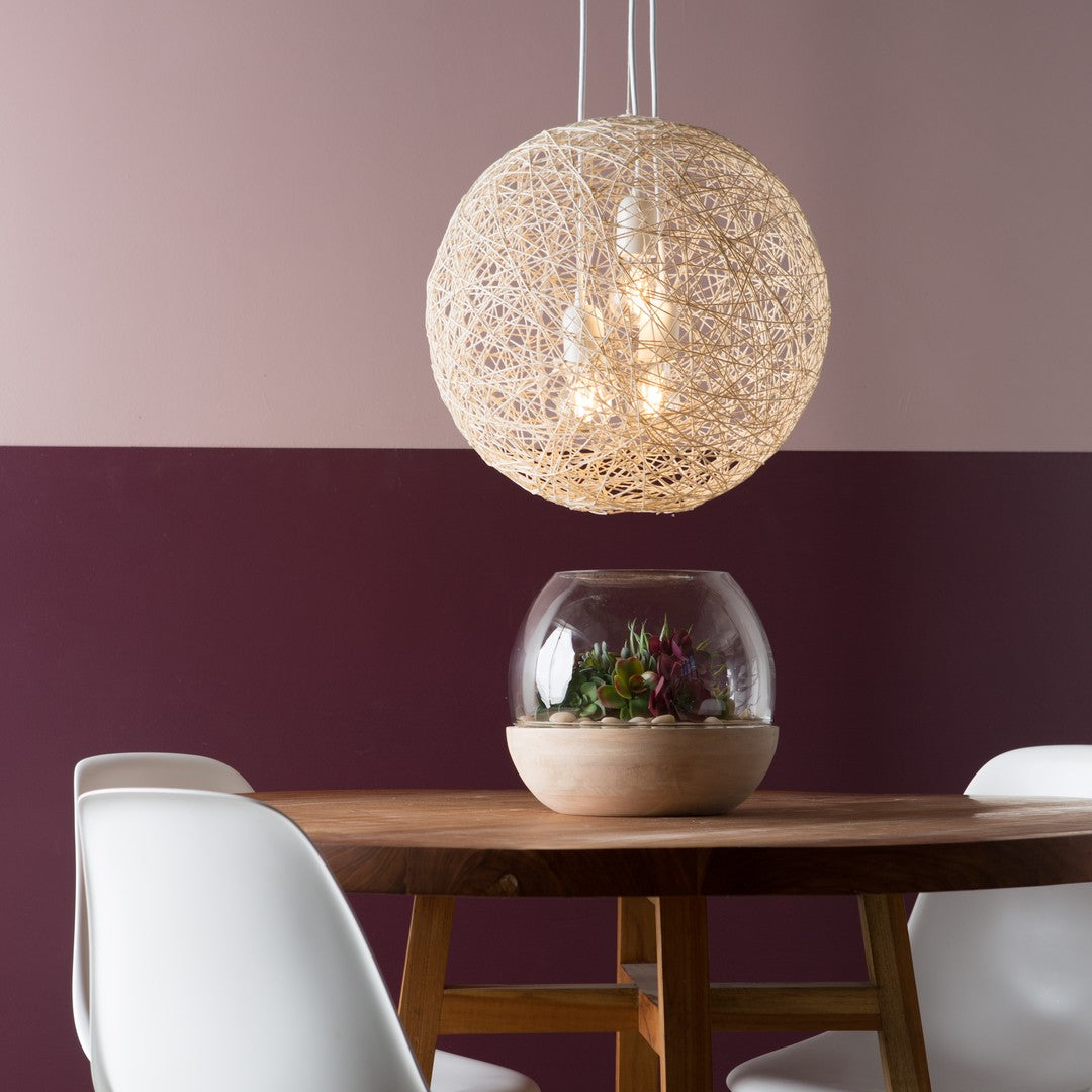 mini chandelier in a string shade