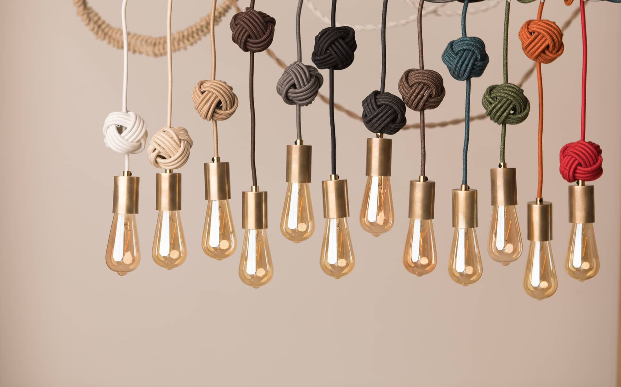 DIY lighting projects monkey knot pendants