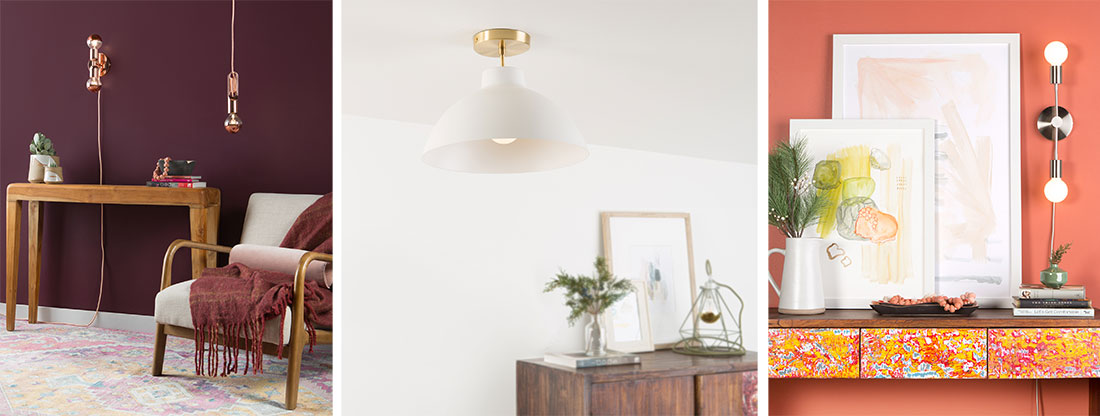 wrap pendants dome shade duo