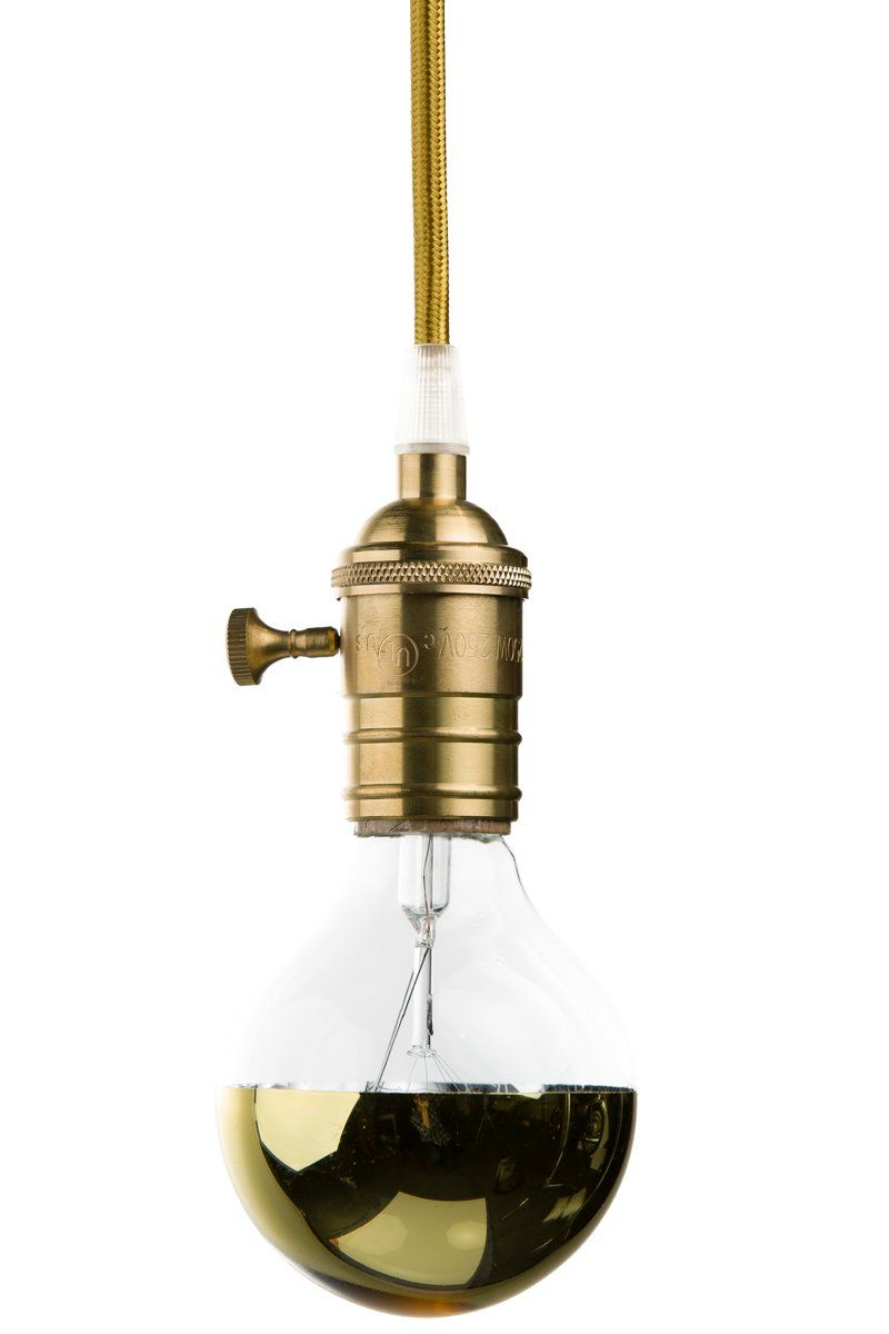 Gold Mirrored Globe Bulb Color Cord Company