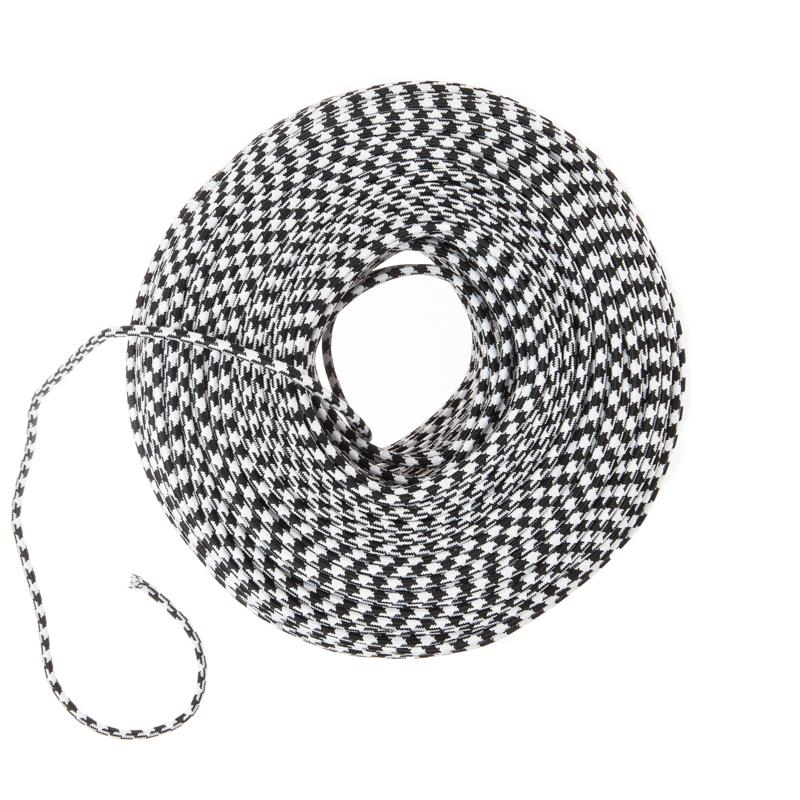 DIY Fabric Wire by the Foot - Black & White Houndstooth