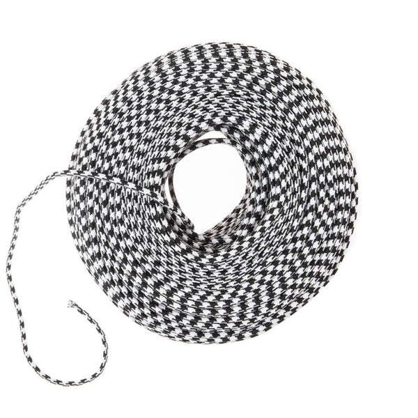 Cloth Covered Wire Black Amp White Houndstooth Color