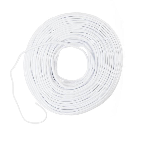 Cloth Electrical Covered Wire - White