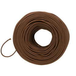 DIY Fabric Wire by the Foot - Chocolate Brown