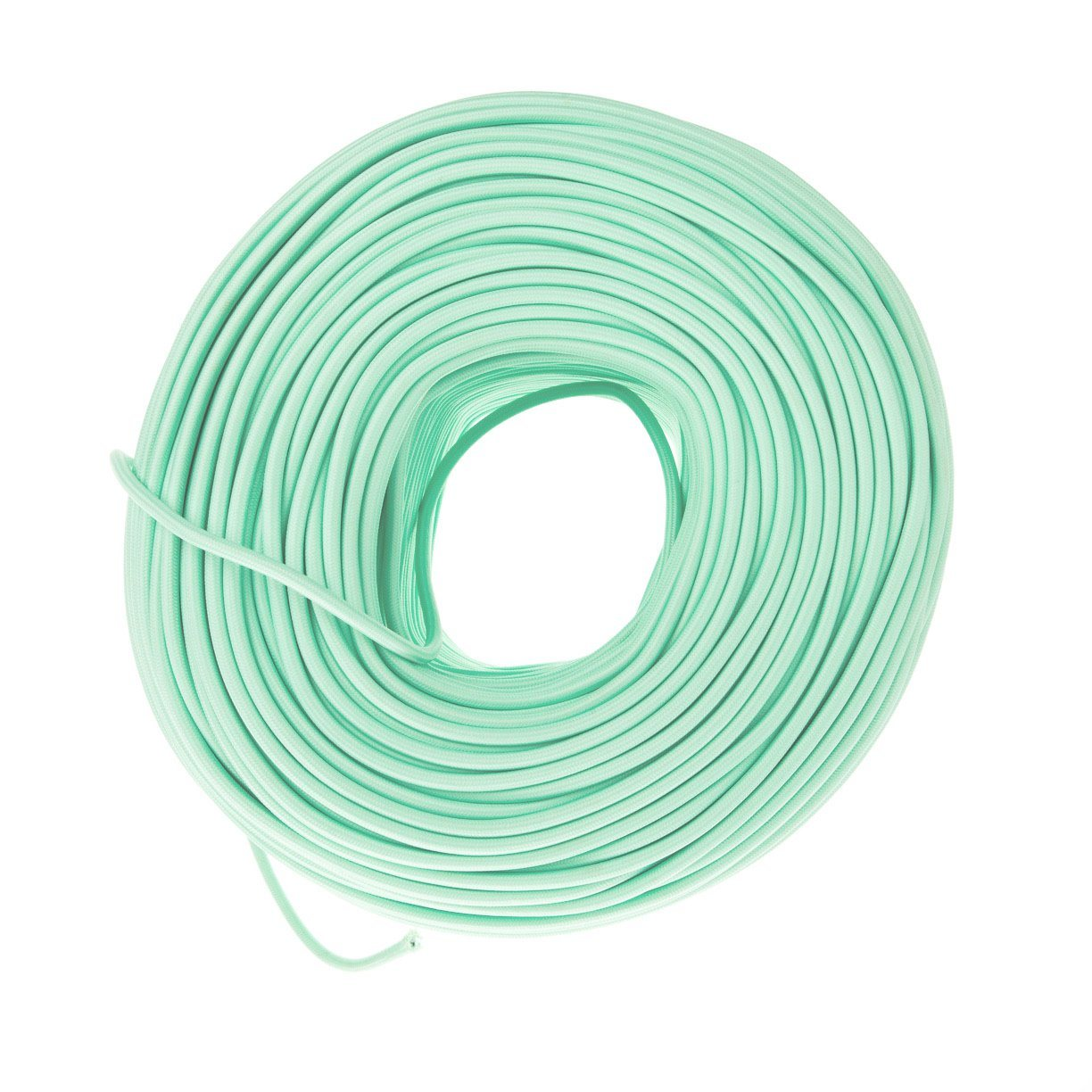 DIY Fabric Wire by the Foot - Mint Green on