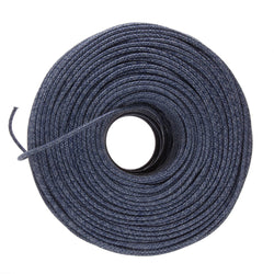 DIY Fabric Wire by the Foot - Navy Mini Tweed