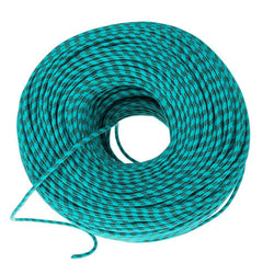 DIY Fabric Wire by the Foot - Turquoise & Brown Stripe