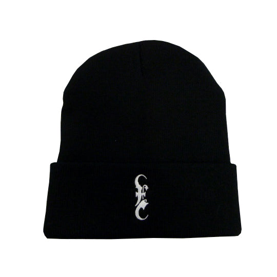 Old E Black Cuffed Beanie