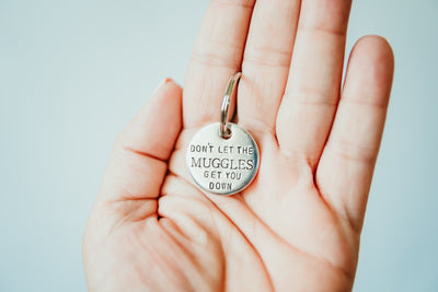 Muggles Keychain | Harry Potter Keychain, on hand