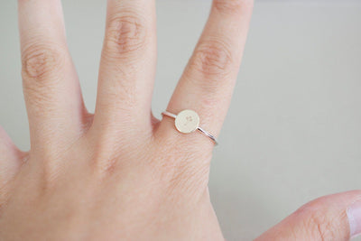 Cross Ring | Stamped Ring, On Finger