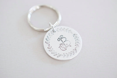 Personalized Initial Keychain