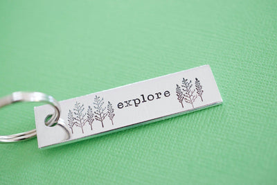 Explore Keychain, green background