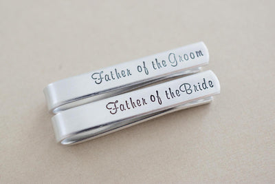 Tie Bar Wedding Set, view from above