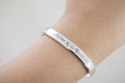 Ad Astra Per Aspera Bracelet | Latin Cuff Bracelet, modeled on wrist