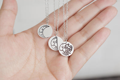 Moon Necklace, close up