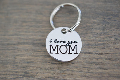 I love you Mom Keychain