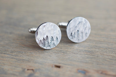 Copper Forest Cufflinks, aluminum version