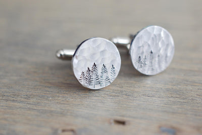 Forest Cufflinks, view from left