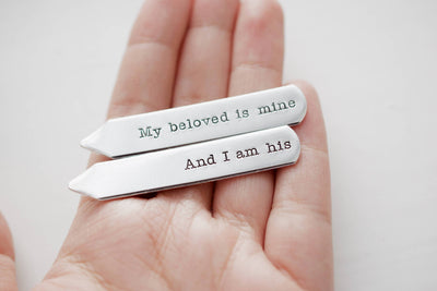 My beloved is Mine And I am His Collar Stays | Hand Stamped Accessories