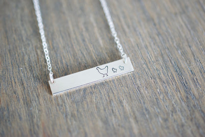 Mother Hen Bar Necklace
