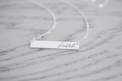 Faith Necklace | Hand Stamped Necklace