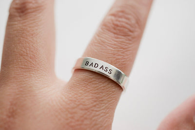 Badass Ring, ring on hand picture