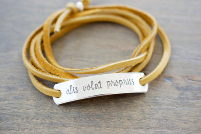 Alis Volat Propriis Bracelet | Jewelry for Woman, close up