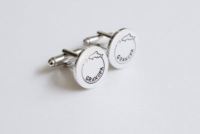 Fishing Cufflinks, view from left