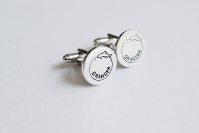 Fishing Cufflinks, side view