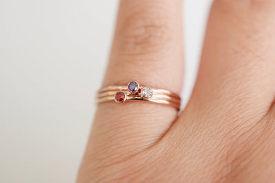 Birthstone Ring, worn on finger