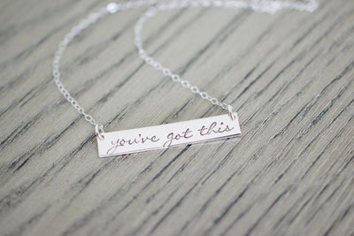 You've Got This Necklace, wood background