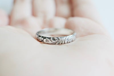 Floral Ring, shown in hand