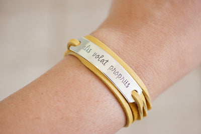 Alis Volat Propriis Bracelet | Jewelry for Woman, on wrist