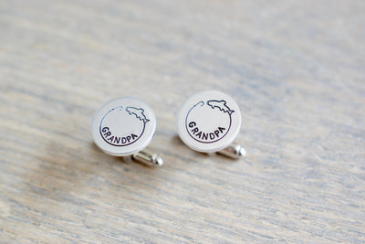 Fishing Cufflinks, view from above